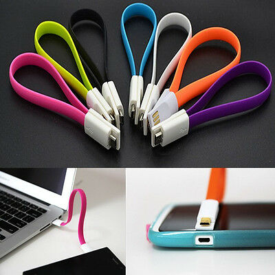 Mini Keychain Magnet Short 5Pin Micro USB Data Charger Cable For Samsung HTC