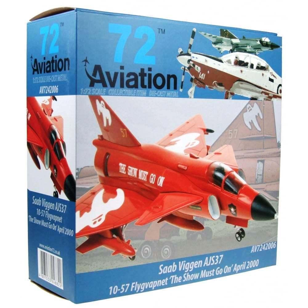 Aviation72 AV7242006 1 72 Saab Viggen F10-57 Flygvapnet Flygvapnet Flygvapnet The Show Must Go On 02962b