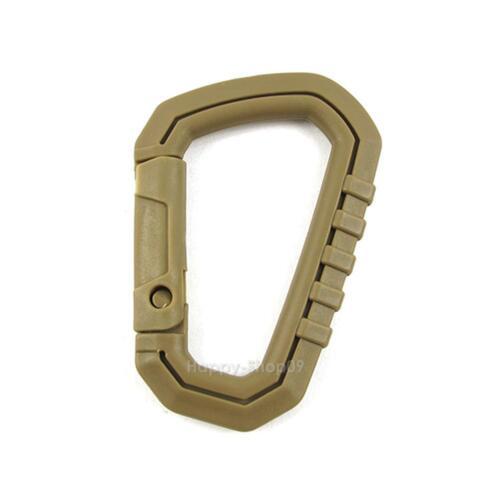 5pcs D Shape 200LB Buckle Snap Clip POM Plastic Climbing Carabiner Hanging v#h9