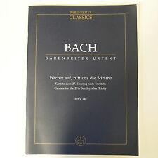 Bach wachet auf, ruft UNS DIE stimme BWV 140, studio punteggio baerenreiter URTEXT