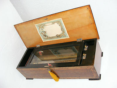 VERY LARGE 65cm WIDE ANTIQUE CYLINDER 12 AIR MUSIC BOX c1860 WORKING