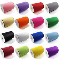 "Tutu TULLE ROLLS 6"" Wide x 100 Yards | Soft Nylon Netting Fabric | Crafts Skirts"