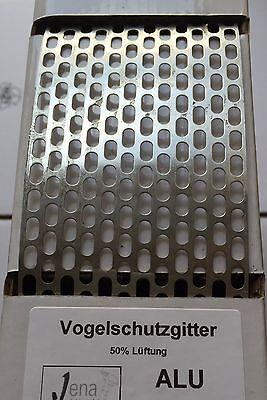 Vogelschutzgitter ALU 100mm blank /& farbig vogelgitter