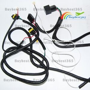 h11 880 relay wiring harness for add on fog lights hid conversion image is loading h11 880 relay wiring harness for add on