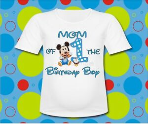 Image Is Loading Blue Baby Mickey Mouse Mom Of The Birthday