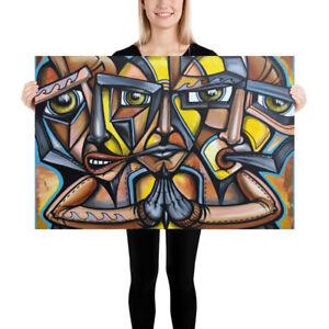 NEO-Street-Art-Graffiti-Face-Print-Abstract-Modern-Poster-Cubism-Deco-Wall-Pop