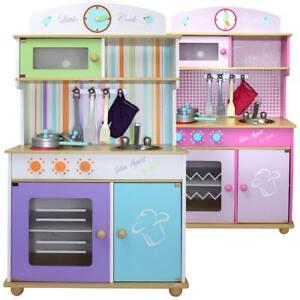 Froggy cucina giocattolo gioco per bambini bambino bambina legno con accessori ebay - Cucina giocattolo in legno ...