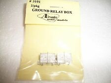 Tomar HO Scale Ground Relay Box 2 Pack  Cast Metal #3101 Bob The Train Guy