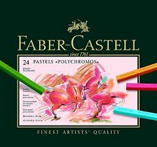 Faber-Castell Polychromos Pastel Crayon 24 Color Professional Artist 128524