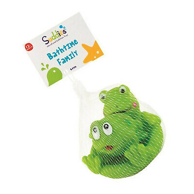 Contemplative Frog Family 8x9x9 Cm Bath Tub Time Kids Water Fun Play Game Toy Toddler Gift Pure Whiteness