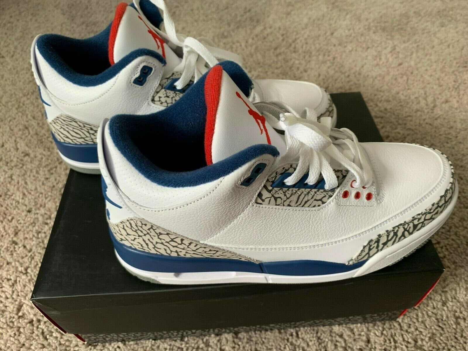 new styles 2eb86 2928c 2016 Air 3 III Retro True bluee SIZE 11 White Cement Grey ( NEW ) Jordan  NIKE zfvtli2329-Athletic Shoes