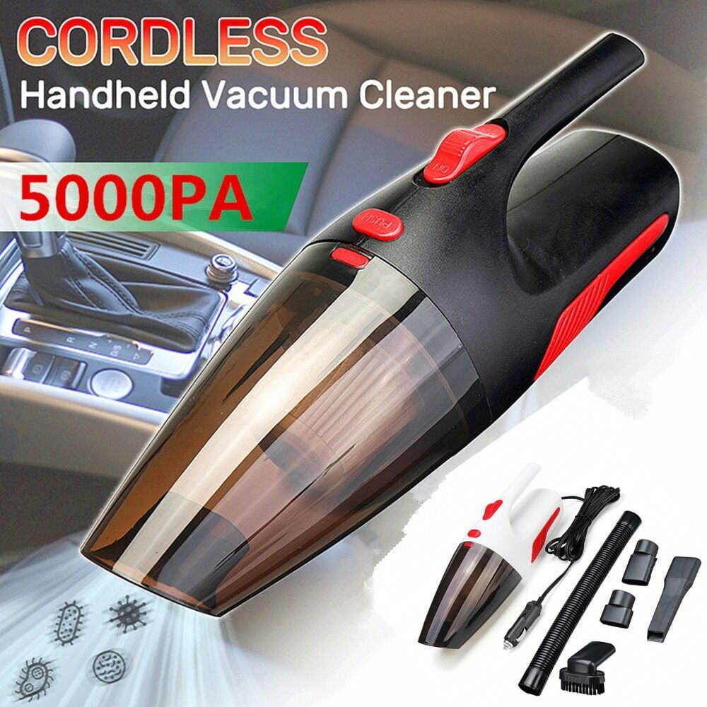 Handheld Wireless Vacuum Cleaner Cordless Wet//Dry Auto Portable for Car Home