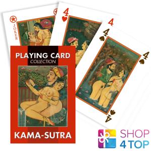 KAMA-SUTRA PLAYING CARDS 54 ILLUSTRATED KARTEN DECK LO SCARABEO KAMA FRAU NEU
