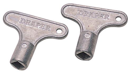 Genuine Draper par de claves de radiador de zinc24866