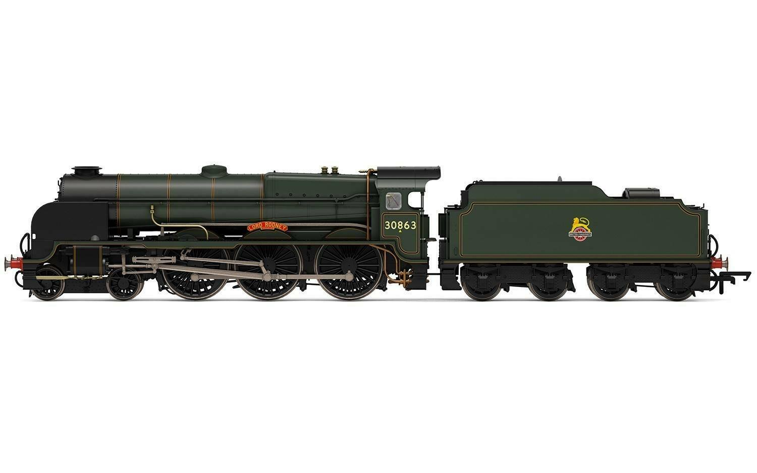 BR (Early) Lord Nelson Class - Lord Rodney 30863 - Hornby R3635 OO Gauge