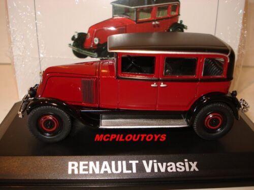 NOREV RENAULT VIVASIX TYPE PG2 BORDEAUX ET NOIR 1928 au 1//43°