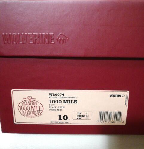 Us 10 8 Metallic Wolverine Mile 1000 Damen Uk Eu Stiefel Schwarz Wildleder 42 W40074 T8wzBp8q