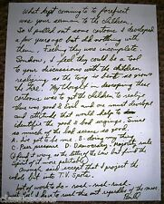 """Signed Letter by  William Zdinak artist of """"In His Image"""""""