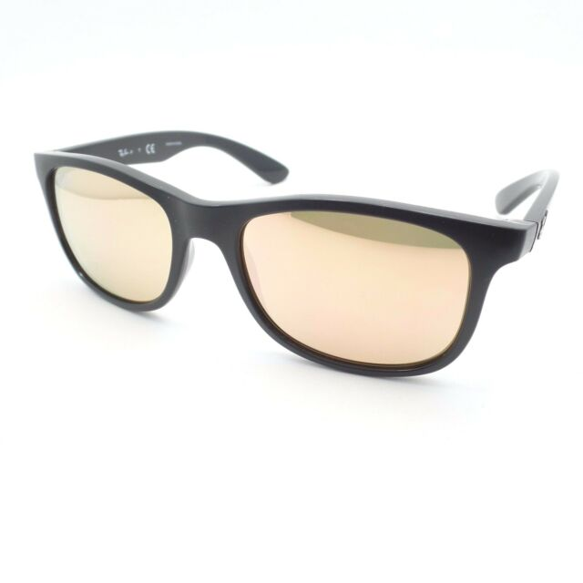 4e18b37d26 Ray Ban Kids 9062 7013 2Y Matte Black Copper Mirror New Sunglasses  Authentic r