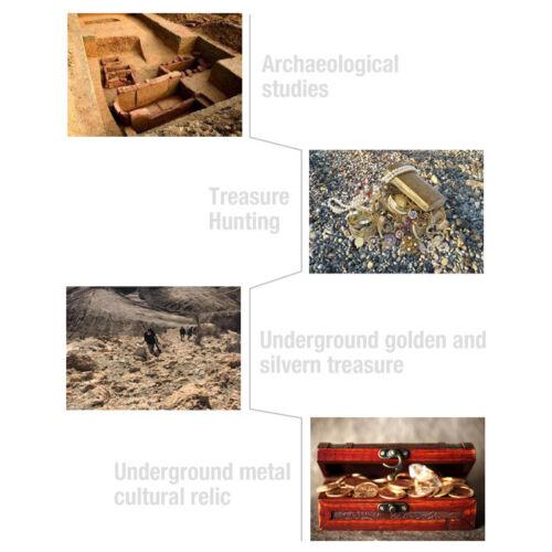 Treasure Hunter Waterproof Metal Detector Underground Explorer Coin Gold Finder