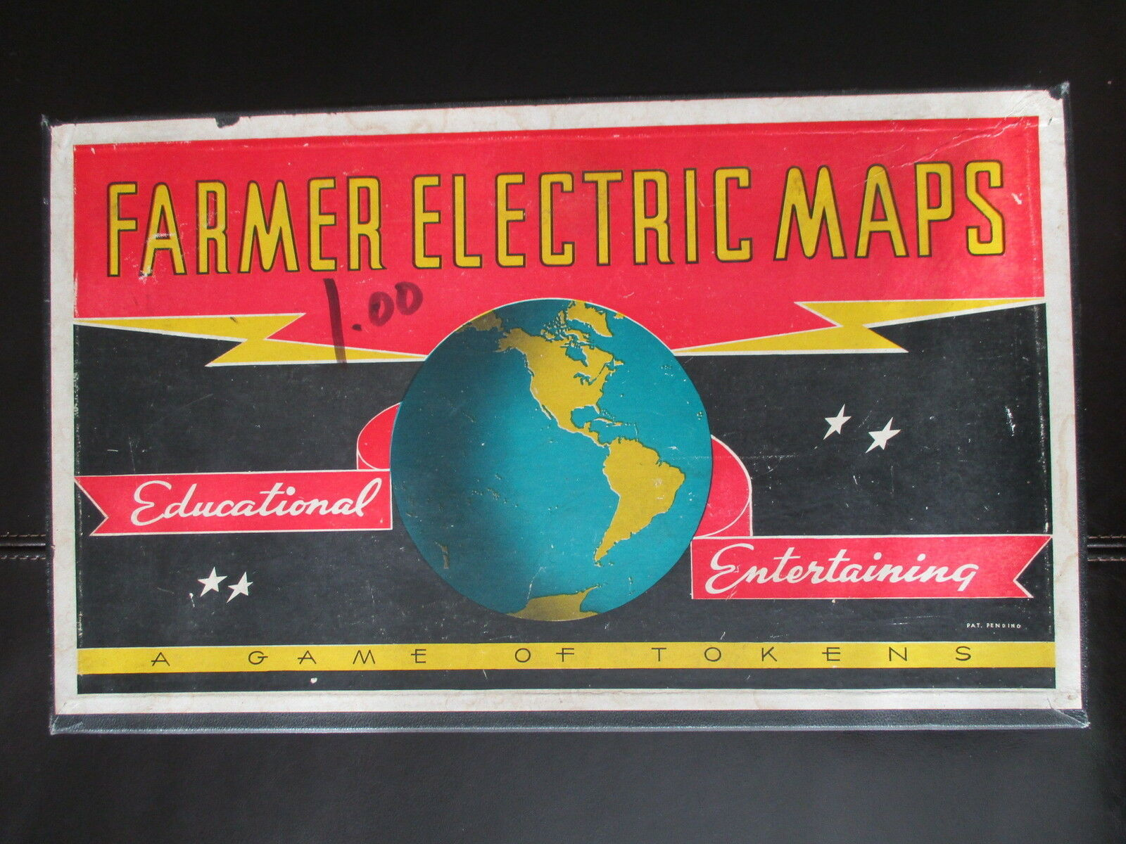 Bauer - karten brettspiel boxed geographie bildungs - spielzeug vintage selten