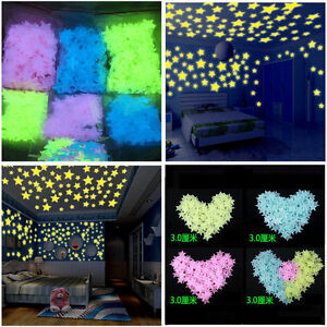 200-X-Pcs-Wall-Glow-In-The-Dark-Star-Stickers-Kids-Bedroom-Nursery-Room-Decor
