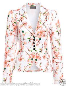 neu damen blazer damen jacke anzug rosa gebl mt angepasst. Black Bedroom Furniture Sets. Home Design Ideas