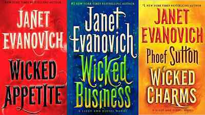 "Lot of 3 Janet Evanovich & Phoef Sutton"" Lizzy and Diesel Hardcover Series"