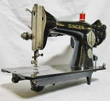 RARE NICKEL 1932 SINGER 15-91 SEWING MACHINE W/ ATTACHMENTS AND NEW WIRING!!!!