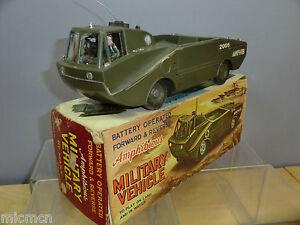 Véhicule militaire amphibie Vn Mib modèle à piles Vintage Marx