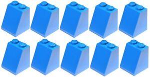 Lego 10x Blue Slope 2x2x2 (3678) NEW!!!