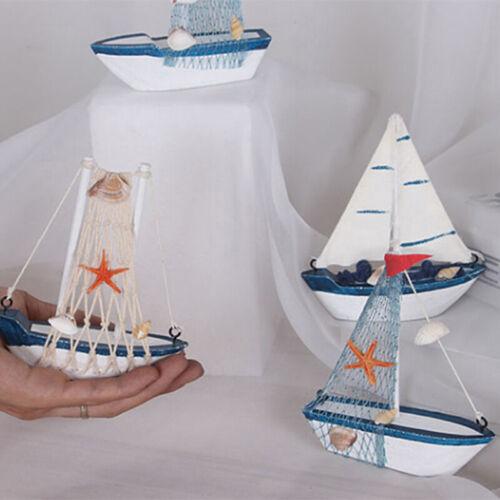 1PC Cute Mini Sailing Boat Model Nautical Home Decor Cloth Sailboat ModelYJUS
