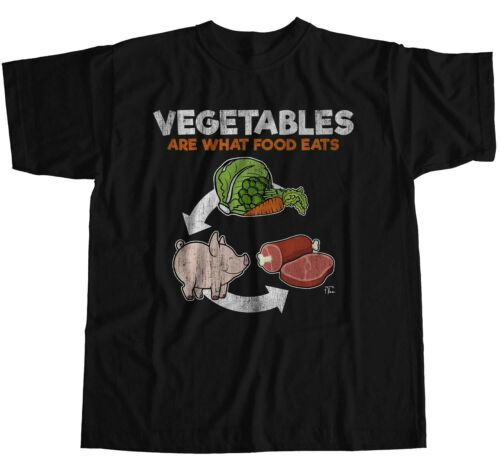 1Tee Womens Loose Fit Vegetables Are What Food Eats T-Shirt
