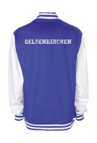 College Jacke Gelsenkirchen Baseball Jacke Damen Herren XS-3XL