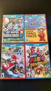 Wii U Game Bundle New Mario Bros U Mario Maker Mario Kart 8