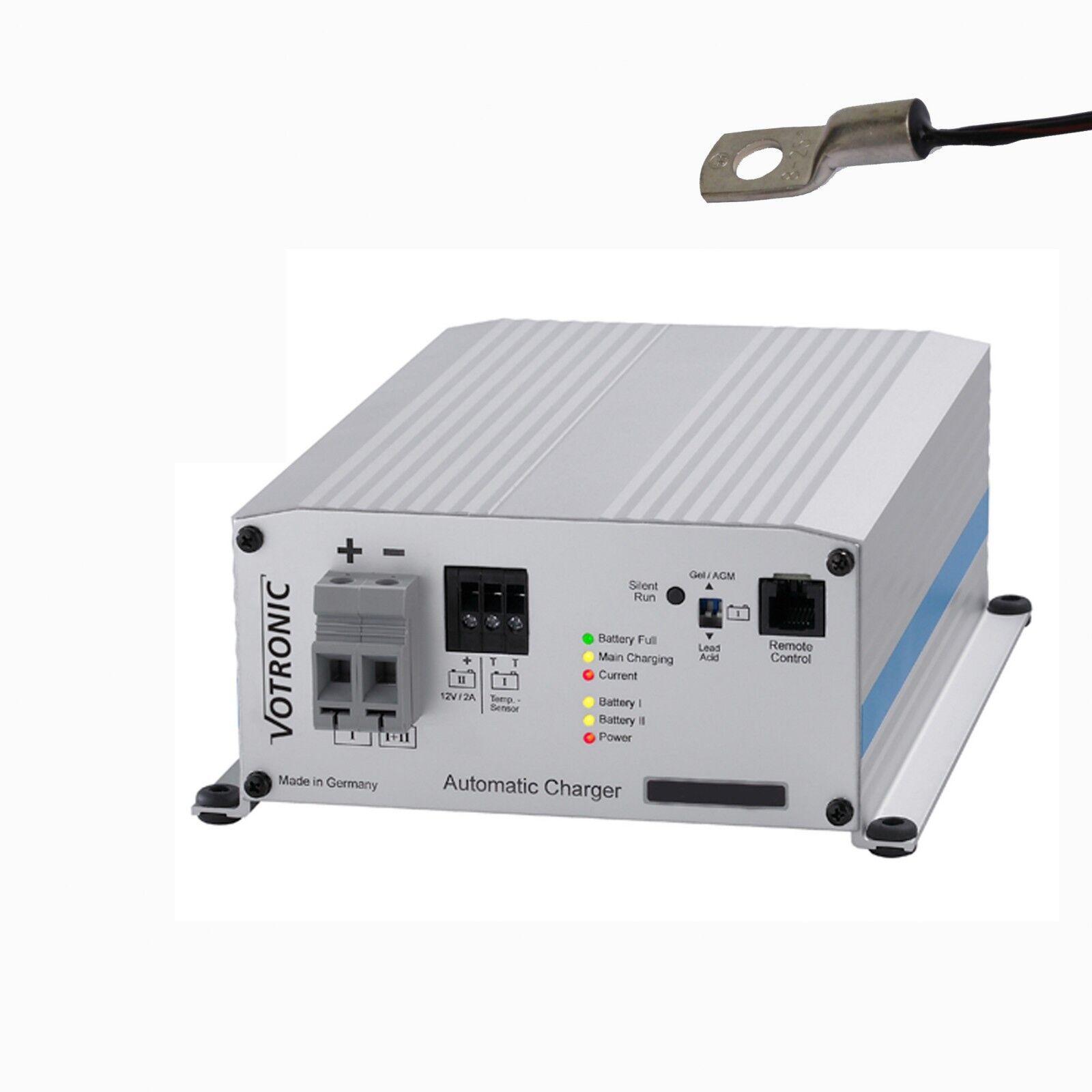 Votronic PB 1225 SMT 2B Neue Serie für Blei-und Lithiumbatterien + Temp. Sensor