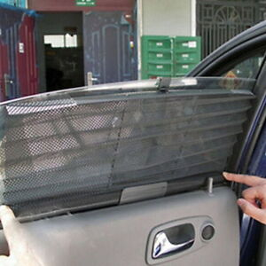 car curtain black side rear window shade windshield sunshade mesh shield visor ebay. Black Bedroom Furniture Sets. Home Design Ideas