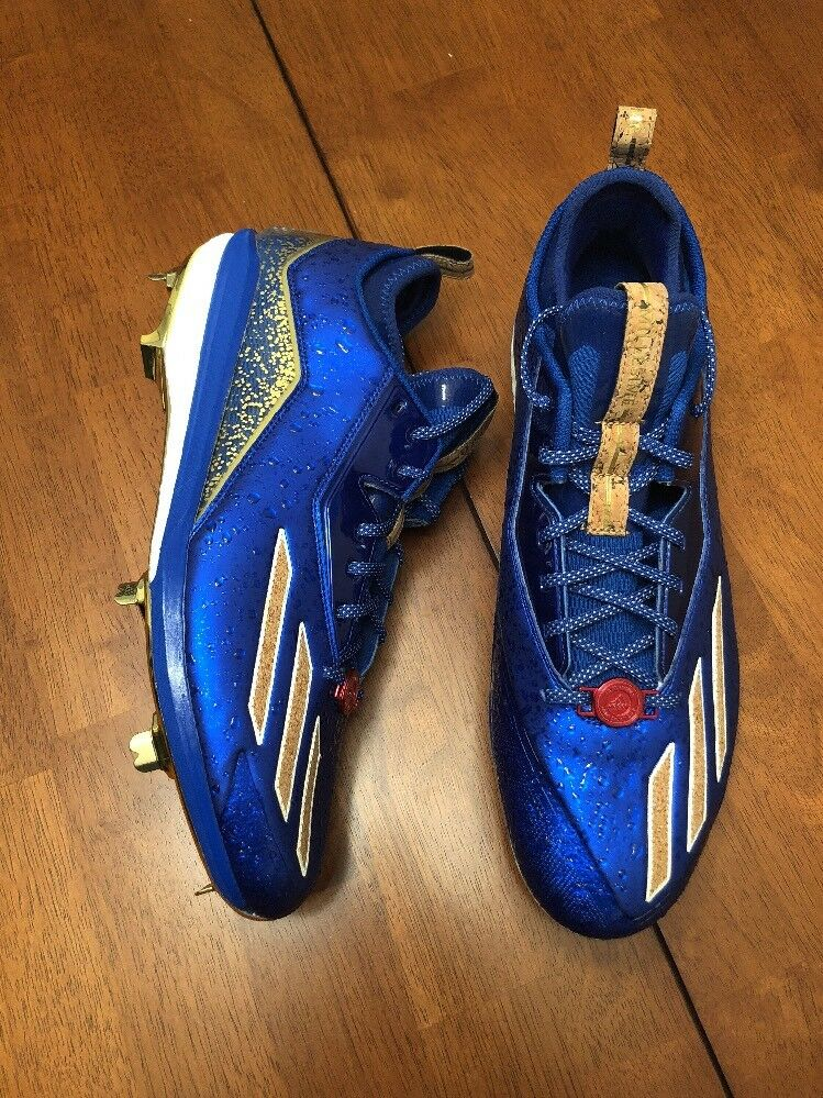 NEW ADIDAS ENERGY BOOST ICON 2 CELEBRATION PACK BASEBALL CLEATS BLUE GOLD 14