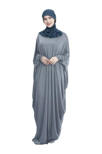 Dubai Abaya Women Muslim Prayer Maxi Dress Islamic Bat Sleeve Kaftan Robe Gown