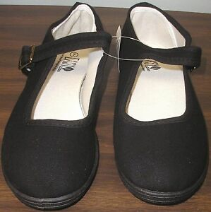 Mary-Jane-Cotton-Canvas-Yoga-Shoes-Made-In-China-Black