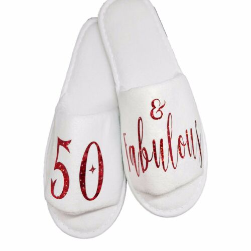 Plush Velour 8mm Sole Birthday Gifts Slippers 50th 40th 30th 65 60 Retirement