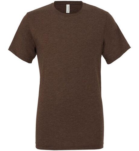 Bella+Canvas Triblend Mens Crew Neck Smart Polycotton T-shirt Casual Wear CV003