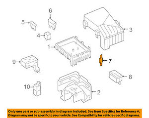 details about vw volkswagen oem 10 14 jetta 2 5l l5 fuse relay main fuse 1k0937629a GM High Feature Engine