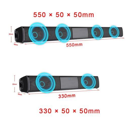 Wireless Bluetooth 3D Surround Speaker Subwoofer Sound Bar TV Home Theater Audio