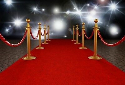 7x5ft Flash Light Red Carpet Super Star Background Retro ...
