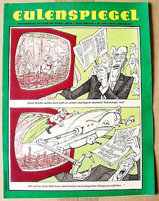 2eu8540/ Ddr Satirezeitschrift - Eulenspiegel - Ausgabe 40/1985