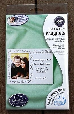Wilton 6 Wedding Save the Date Magnets Silver You Print