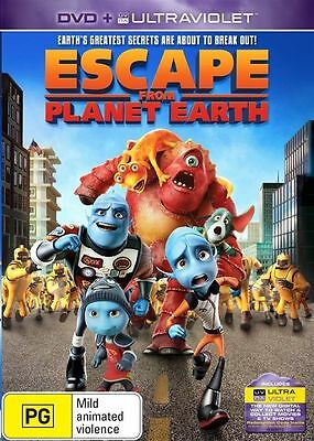 ESCAPE FROM PLANET EARTH DVD + Ultraviolet, FAMILY ANIMATION (Sealed) R4