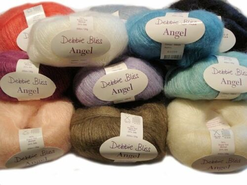 Debbie Bliss Angel Super Kid Mohair Knitting Yarn 25g Free UK p/&p