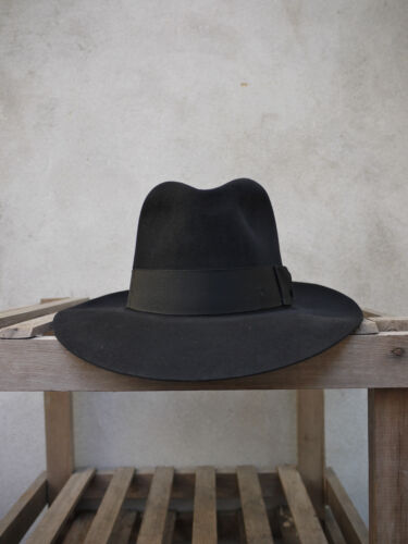 UK Made The Poet Fedora Hat in Black by Christys/' of London 100/% Fur Felt